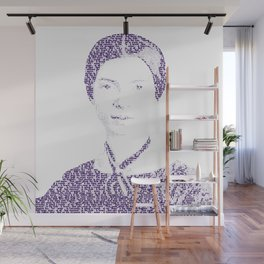 Emily Dickinson - Word Portrait Wall Mural