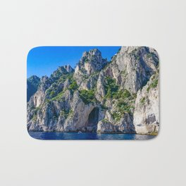 The White Grotto of the island of Capri, Italy off Naples and the Amalfi Coast Bath Mat