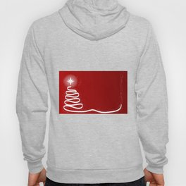 Red Scrible Christmas Tree Hoody