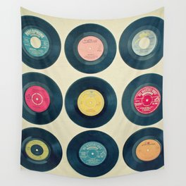 Vinyl Collection Wall Tapestry