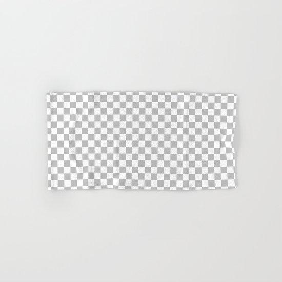 Checker (Silver/White) Hand & Bath Towel