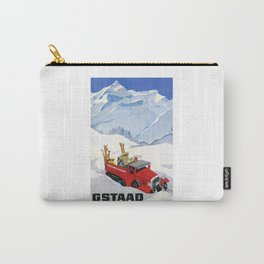 1934 Switzerland Gstaad Travel Poster Carry-All Pouch