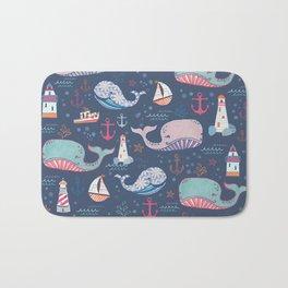 Whale Toss Bath Mat