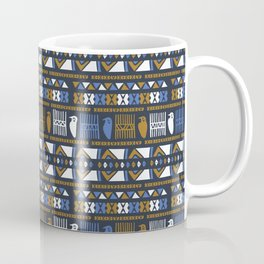 Hand Drawn Ancient Greek Bird Pattern Coffee Mug