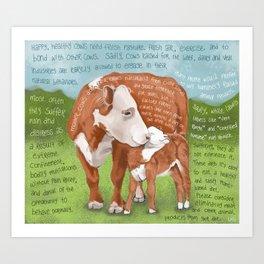 Cows 2-Hereford Art Print