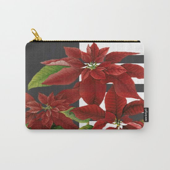 vintage poinsettia on modern background Carry-All Pouch
