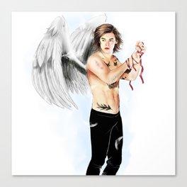 Angel with a shotgun  Canvas Print