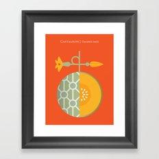 Fruit: Cantaloupe Framed Art Print