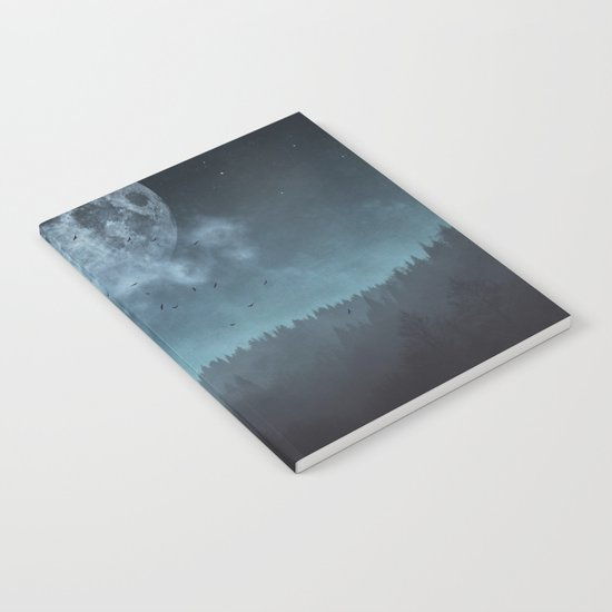 Moon over Trees Notebook
