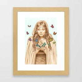 The Butterfly Girl Framed Art Print