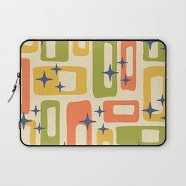 Retro Mid Century Modern Abstract Pattern 277 Yellow Orange Green Laptop Sleeve