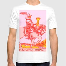 Knights Be Knighting MEDIUM White Mens Fitted Tee