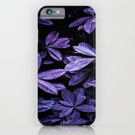 Stillness, Botanical Plants Leaves iPhone Case
