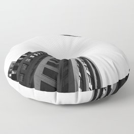 Architecture Minimalism Black and White Photography Floor Pillow