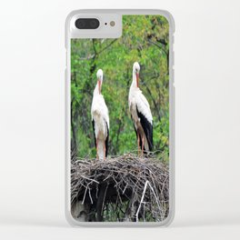 Storks Clear iPhone Case