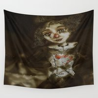 clown Wall Tapestries featuring clown  by AliluLera