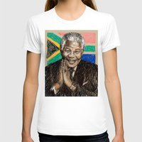 mandela T-shirts featuring MANDELA by Stan Kwong