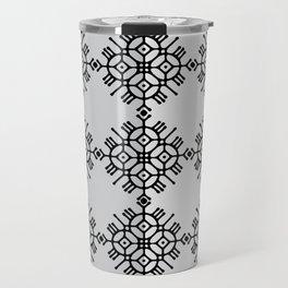 black and white pattern Travel Mug