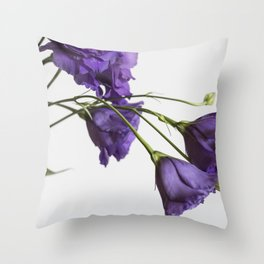 Purple Lisanthus Flowers #2 Throw Pillow