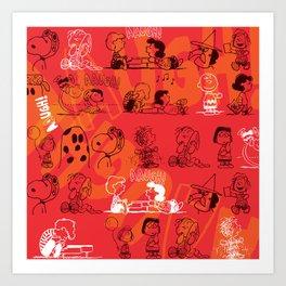SNOOPY AAUGH! Art Print