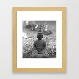 Sitting Buddha Framed Art Print