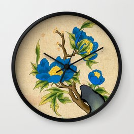 Minhwa: Peony on the Rock B Type Wall Clock