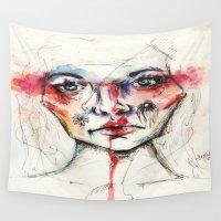 daisy Wall Tapestries featuring Daisy by Alycia Plank