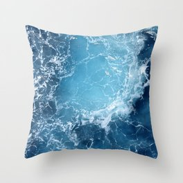 ATLANTIC - OCEAN - BLUE - OCEAN - BLUE - WATER - PHOTOGRAPHY Throw Pillow