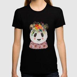 Cut Panda Bear with flower crown. Cute decor for kids T-shirt