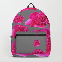 DECORATIVE SURREAL FUCHSIA PINK ROSES  COLUMNS Backpack