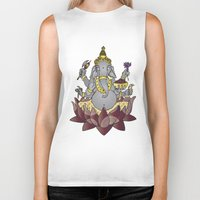 ganesh Biker Tanks featuring Ganesh by Street But Elegant