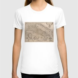 Vintage Map of Italy (1570) T-shirt