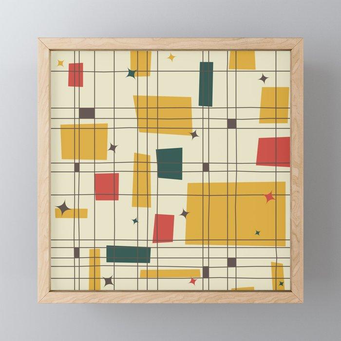 Mid-Century Modern (gold) Framed Mini Art Print
