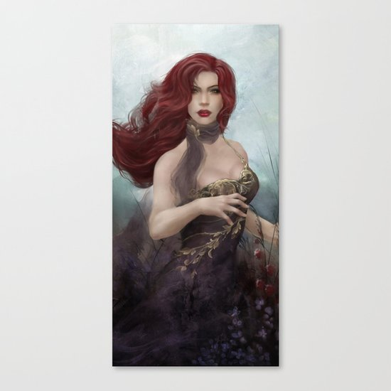 Gone - Portrait of a beautiful redhead girl Canvas Print