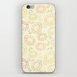 smiley flowers iPhone Skin