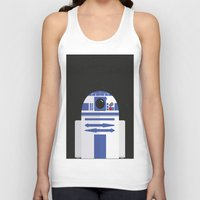 r2d2 Tank Tops featuring R2D2 by FioMedina