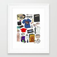 ghost world Framed Art Prints featuring Ghost World by Shanti Draws