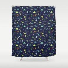 Dante Dinosaur Shower Curtain