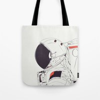 astronaut Tote Bags featuring GOD IS AN ASTRONAUT by CranioDsgn