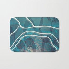 Cryptic Blue Bath Mat