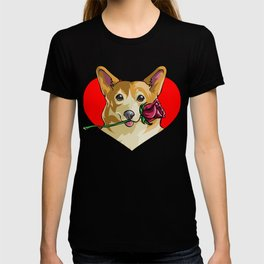 Romantic Corgi T-shirt