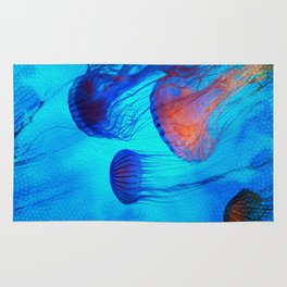 Watch the Flow of the Jelly Glow  Rug