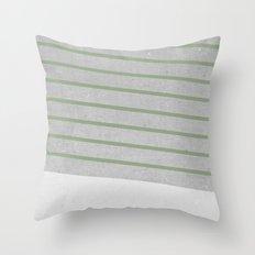 Concrete & Stripes II Throw Pillow