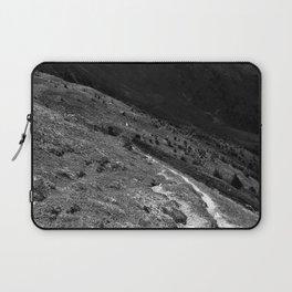 narrow hiking path alps serfaus fiss ladis tyrol austria europe black white Laptop Sleeve