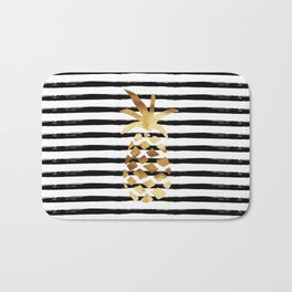 Pineapple & Stripes Bath Mat