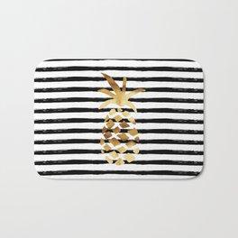 Pineapple & Stripes Bath Mat