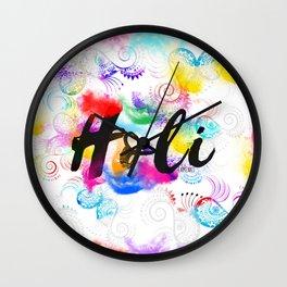 Holi Wall Clock