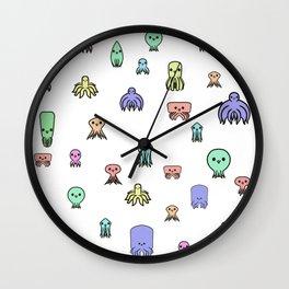Cute little octopus Wall Clock