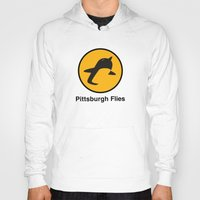 pittsburgh Hoodies featuring Pittsburgh Flies by Le Pac