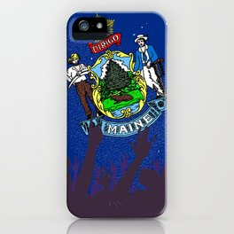 Maine State Flag with Audience iPhone Case